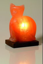lampe cristal de sel chat