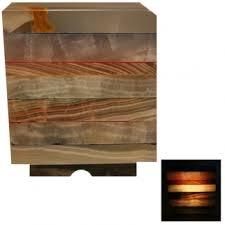lampe onyx cube