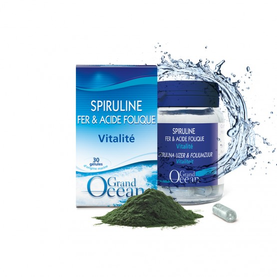SPIRULINE - FER - ACIDE FOLIQUE