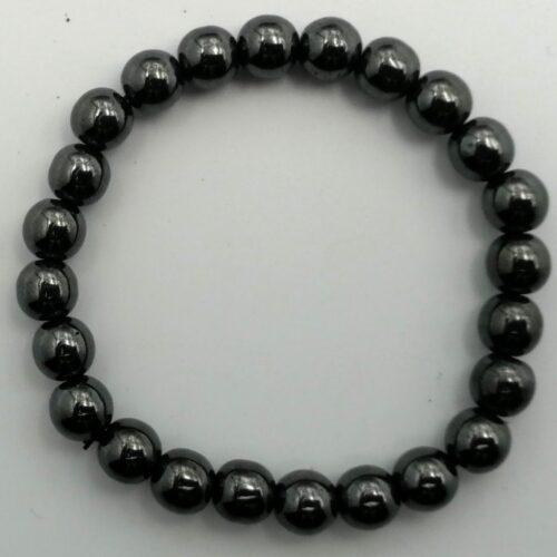 bracelet hematite naturelle