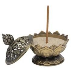 bruleur encens lotus bronze